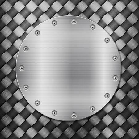 carbon fibre: Pattern of metal texture background. Vector illustration.