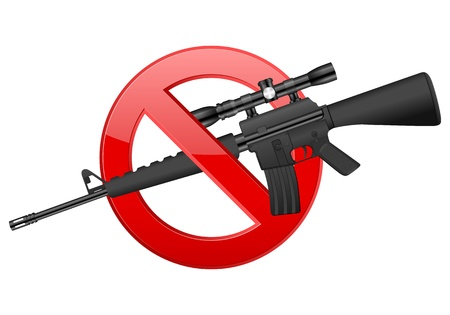 No weapon sign on a white background. Vector