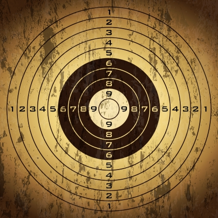 shooting target: Target over grunge background. Vector illustration. Illustration