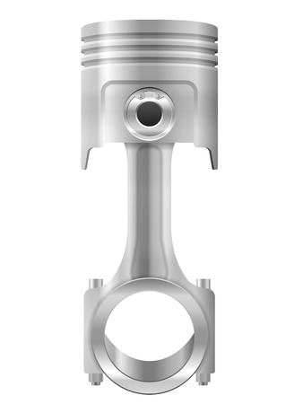aluminum rod: Piston on a white background.