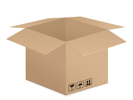 cardboard box: Cardboard box on a white background. Vector illustration. Illustration