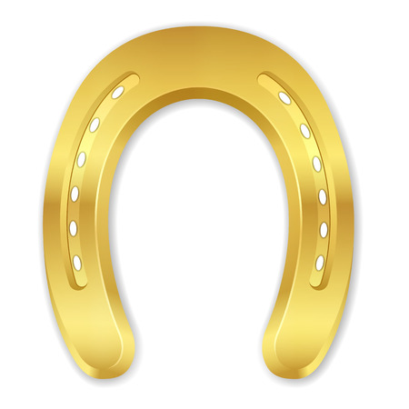 Horseshoe on a white background. Vector