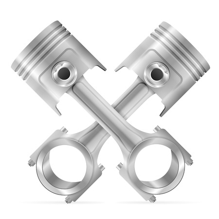 pistons on a white background Vector