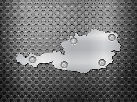 metal noir: Autriche Plan de m�tal sur une grille en m�tal noir.
