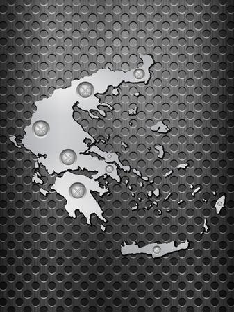 metal noir: Gr�ce Plan de m�tal sur une grille en m�tal noir. Illustration