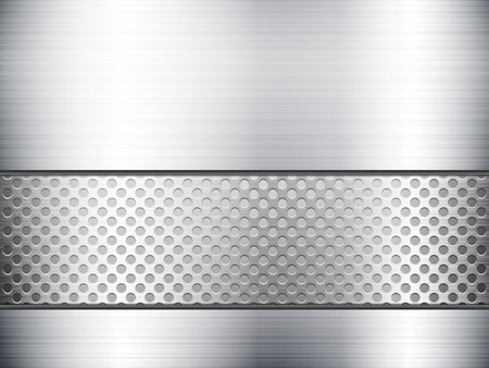stainless steel sheet: Pattern of metal texture background. Vector illustration.