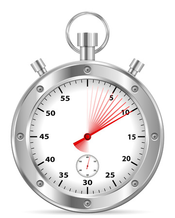 Stopwatch on a white background. Vector illustration.