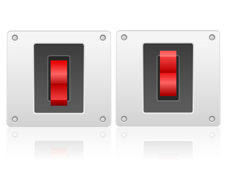 Electric switch on a white background.