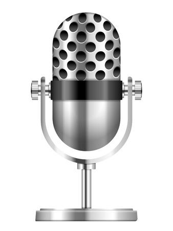 Microphone on a white background. Vector illustration. Vector