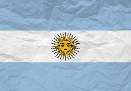 scrunch: Argentina flag crumpled paper textured background. Vector illustration.