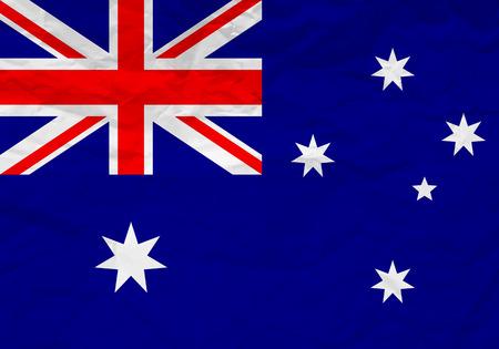 flag australia: Australia flag crumpled paper textured background. Vector illustration. Illustration