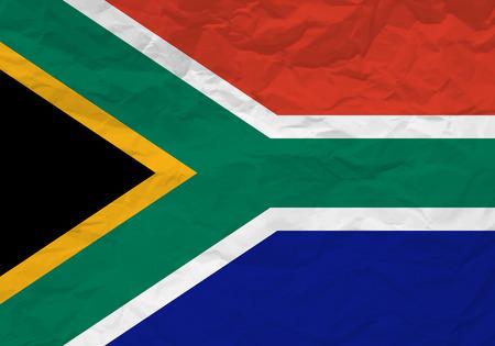 scrunch: South Africa flag crumpled paper textured background. Vector illustration. Illustration