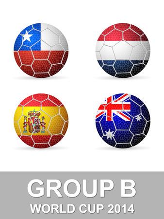 b ball: National flag ball group B.