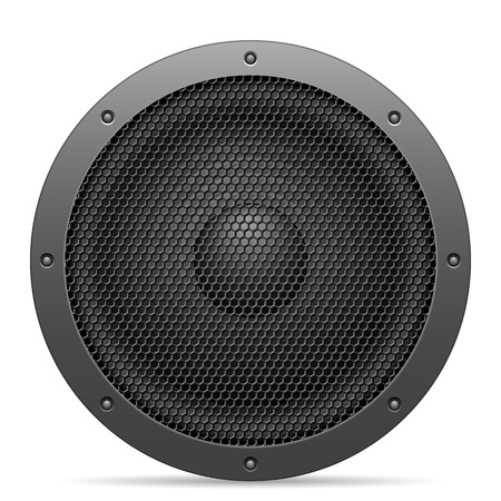 Sound speaker on a white background. Illustration