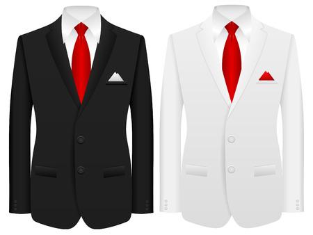 traje formal: Hombres traje formal sobre un fondo blanco.
