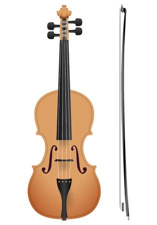 violoncello: Violin on a white background. Vector illustration.