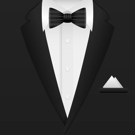 black suit: Man formal suit background. Vector illustration.