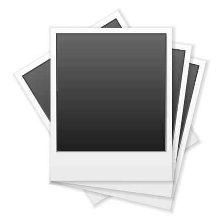 Instant photos on a white background. Vector