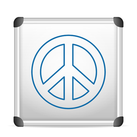 whiteboard peace on a white background. Vector