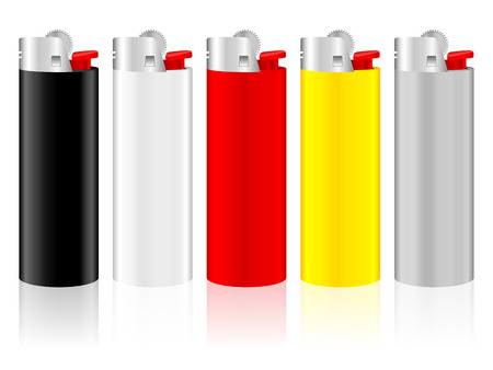 Lighter on a white background. Vector