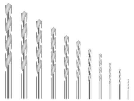 bits: Drill bit on a white background.