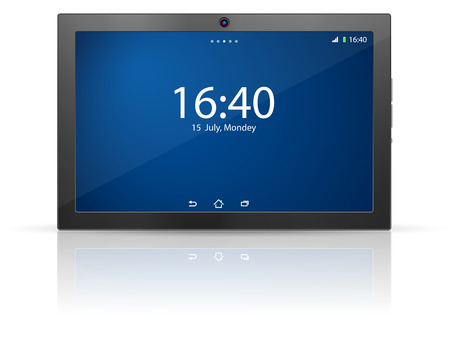 Tablet on a white background. Vector
