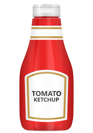 Tomato ketchup bottle on a white background. Vector