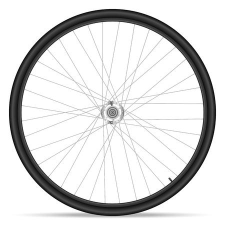 Bike wheel on white background. Vector