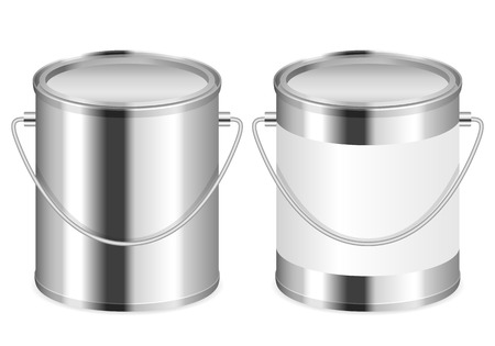 """""""paint can"""": Paint can set on a white . Illustration"""