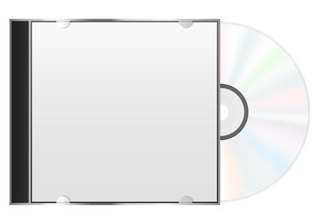 cd case: Caja del disco compacto y CD sobre un fondo blanco.