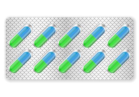 blister: Blister medicine pill on a white background. Illustration