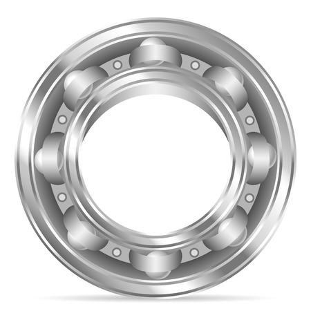 bearing: Ball bearing on a white background. Vector illustration. Illustration