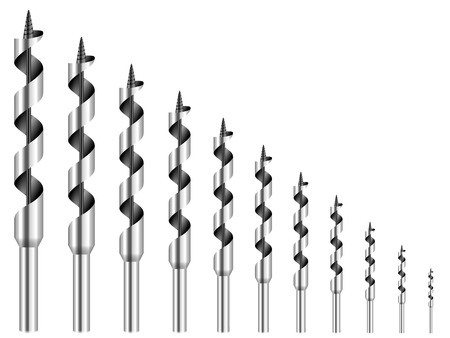 auger: Drill bit on a white background.