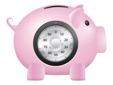 piggy bank safe on a white background. Vector illustration. Vector