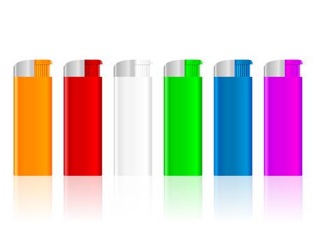 ljusare: Color lighter set  on a white background.  Illustration