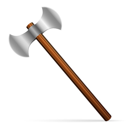 Axe on a white background. Vector illustration. Vector