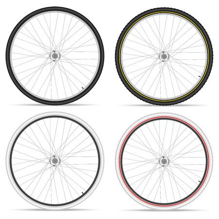 bike parts: Bike wheels on a white background. Vector illustration. Illustration