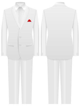 formal: Man formal suit on a white background.