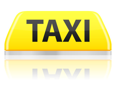 public service: Taxi sign on a white background. Vector illustration. Illustration