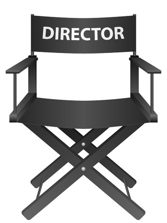 Producer chair on a white background. Vector illustration.