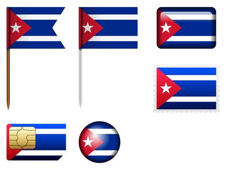 cuba flag: Cuba flag set on a white background.