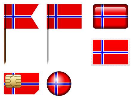 norway flag: Norway flag set on a white background.