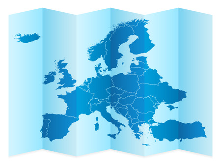 Europe map on a white background. Vector illustration. Illustration