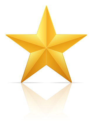 gold star: Gold star on a white background. Vector illustration.