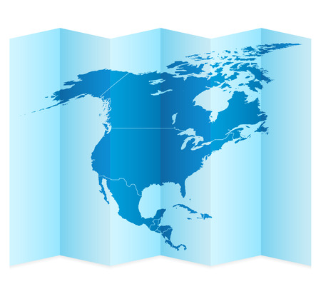 frontier: North America map on a white background. Vector illustration. Illustration