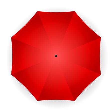 umbrella: umbrella red on a white background. Vector illustration.