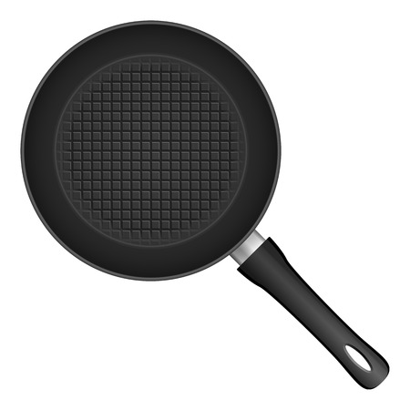 frying: Frying pan on a white background.