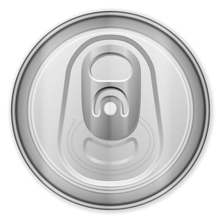 canned drink: Drink can top on a white background.