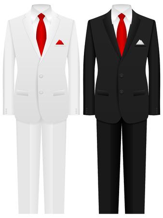 Men formal suit on a white background. Ilustrace