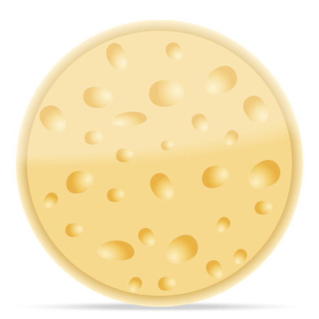 chunk: Cheese on a white background. Vector illustration.